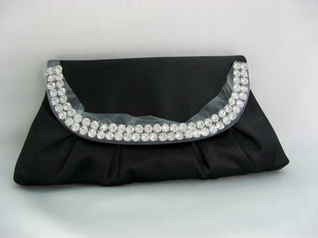 Tasche schwarz mit Strassbogen