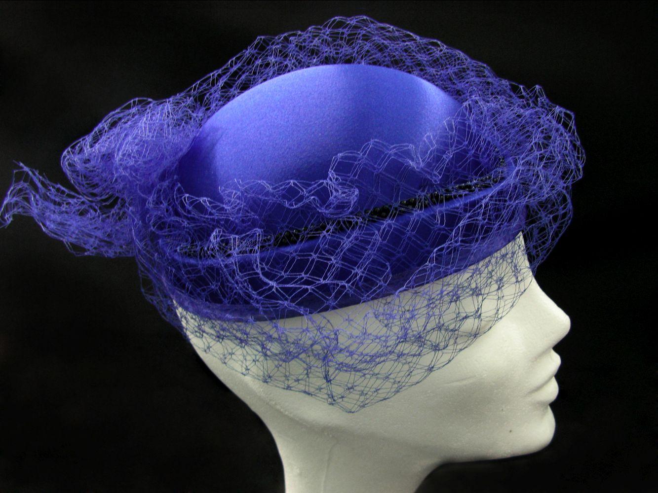Hut blau, mit Netz, Sonderposten!